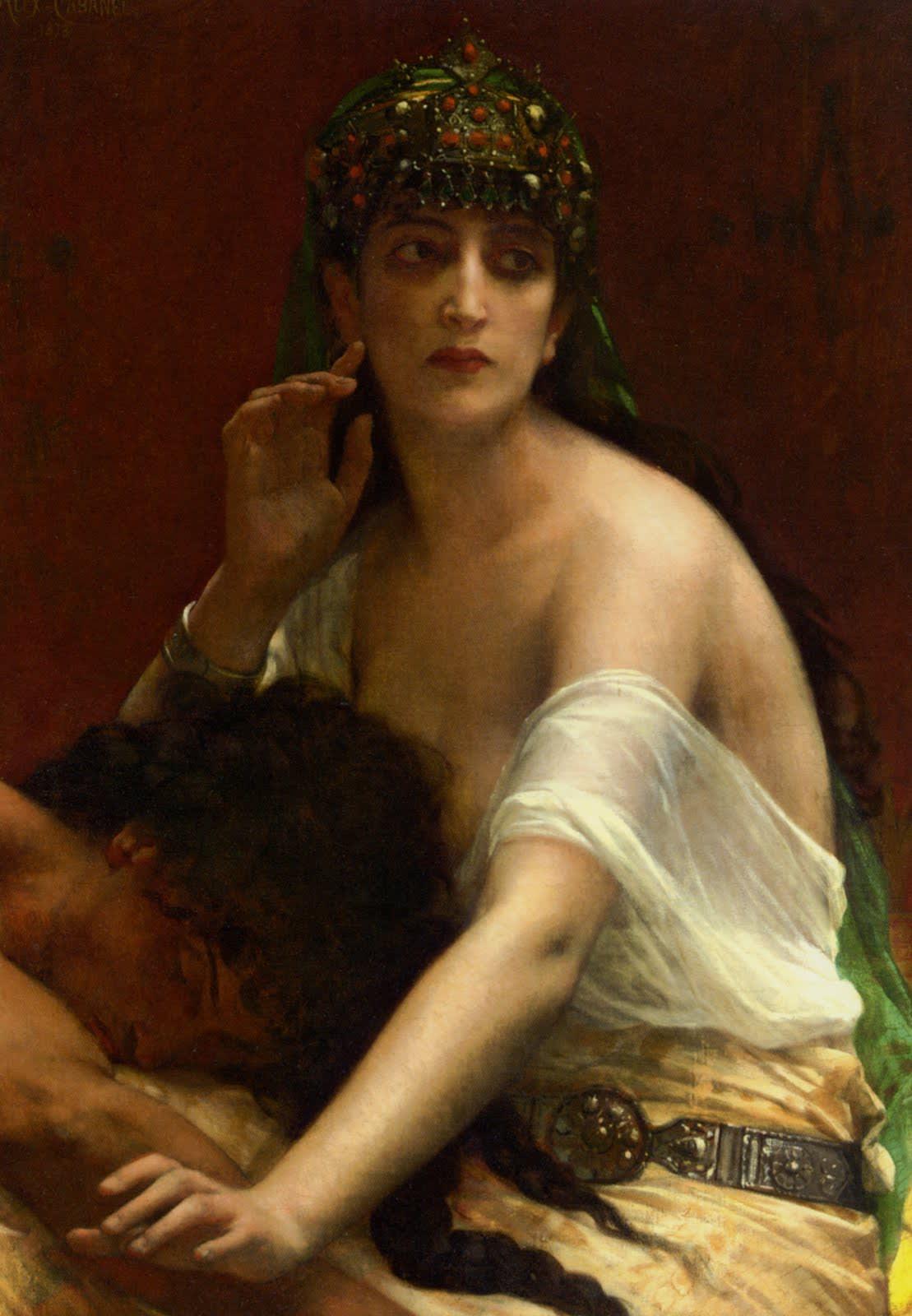 Samson and Delilah ( デリラ )  1878年【カバネル】