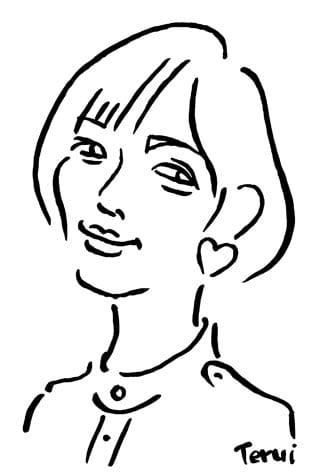 本田翼似顔絵イラスト画像
