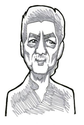 市村正親似顔絵イラストレーション画像