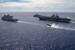 USPacificFleet,防衛省,海上自衛隊,強襲揚陸艦アメリカ,共同訓練,戦術技量,輸送艦しもきた,水陸機動団,