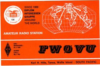 私のDXCC #192 Wallis & Futuna Is(ウォリス・フツナ) - アマ無線への思い
