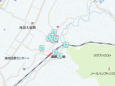 大張野駅周辺