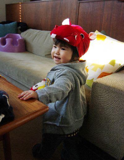 カバの着ぐるみ帽子