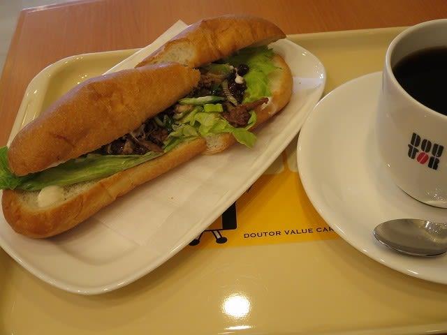 ぜいたくミラノサンドすきやき+アメリカンコーヒーMセット