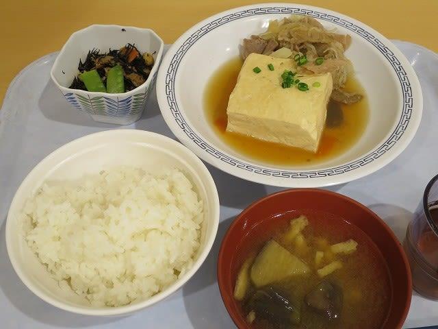 Aセット(肉豆腐)