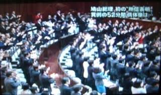 第192回国会の所信表明演説におけるスタンディングオベーション問題