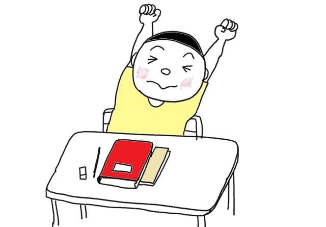 ぼくの一日 追加終わります スーザンの 日本語教育 手描きイラスト