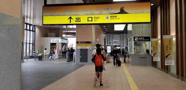 新高岡駅での城端線への乗り換えはいったん出場してから