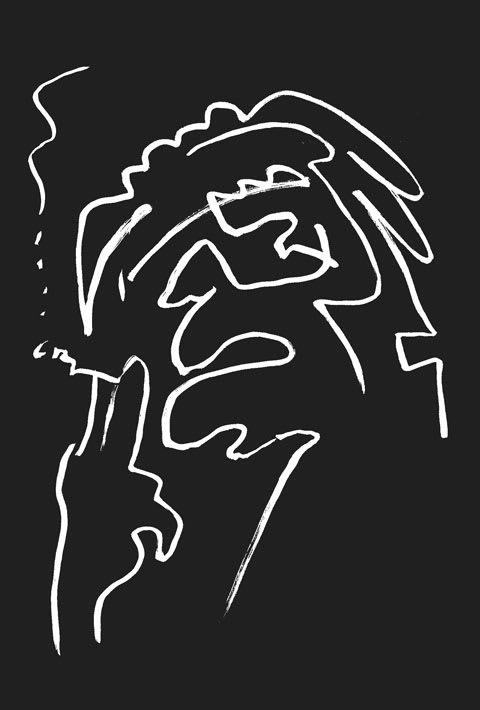 松本清張似顔絵イラスト画像