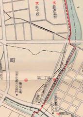 昭和30年代の地図より入船町周辺を拡大