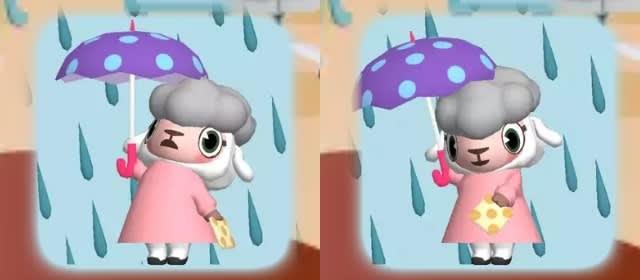 天気情報「大雨」のメイドのメイちゃん