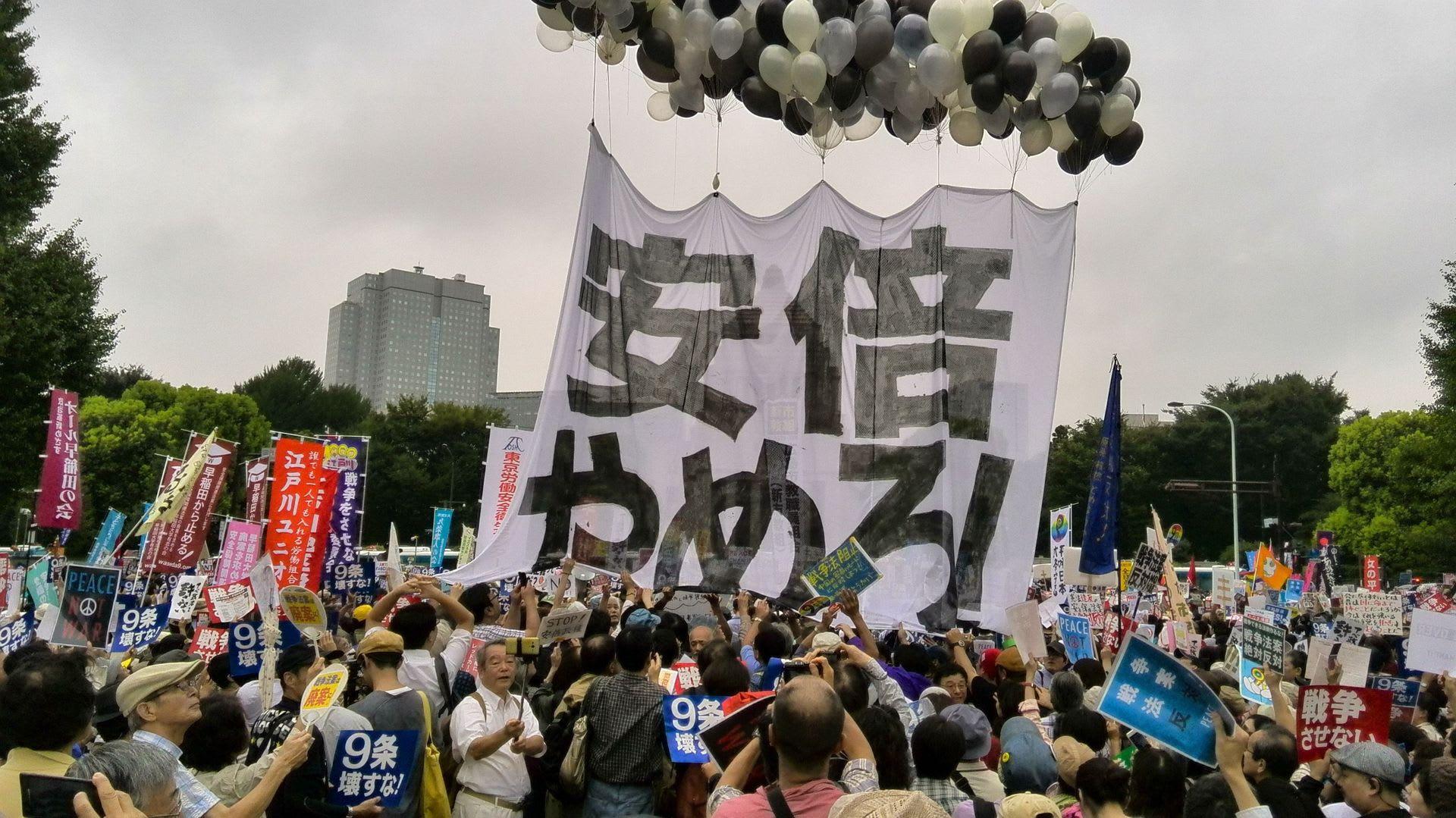 8月30日国会前デモの後で(あら...