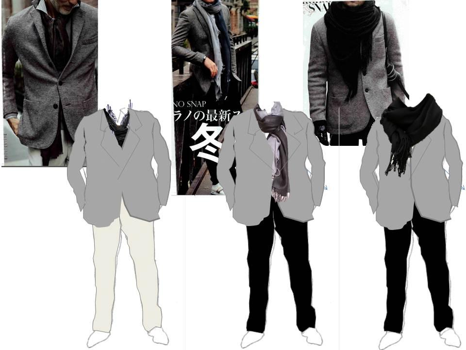 51a5be44f9f6f ミディアムグレーのウールジャケットは、休日用に買ってもなかなか着ないうちに春になってしまうということはありませんか。これはインナーの色合わせが意外と難しい  ...