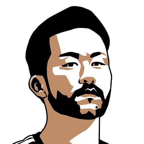 吉田麻耶の色面分割の似顔絵