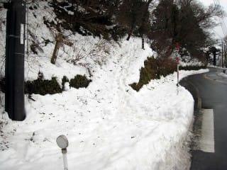 登山口(南光河原よりの)。駐車場は冬は有料。
