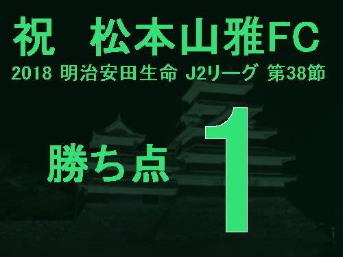 祝 松本山雅FC 2018 明治安田生命 J2リーグ 第38節 勝ち点1