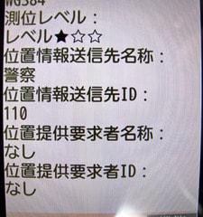 位置履歴画面の詳細。位置情報送信先IDは110