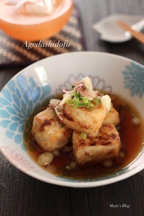 塩豆腐で濃厚揚げ出し豆腐 - マイティの Awesome Cooking