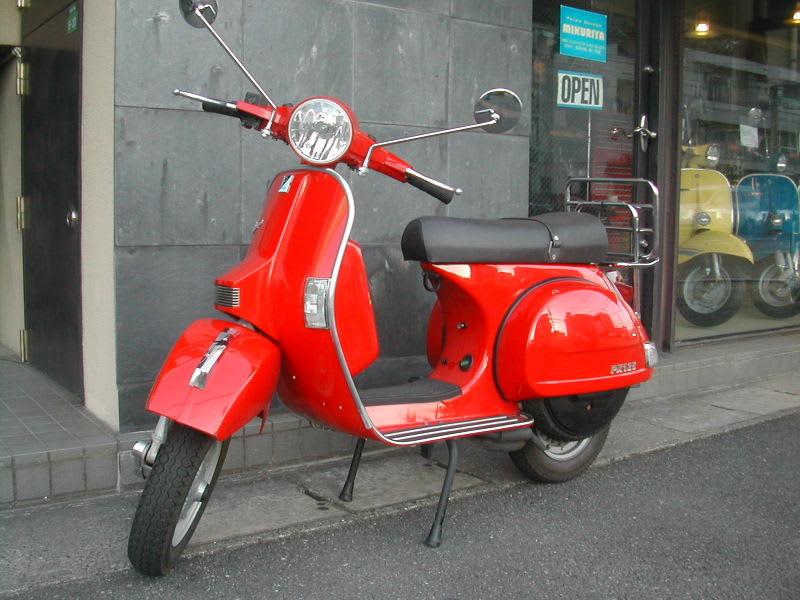 vespa px 125fl2 red vespa garage mikuriya s blog
