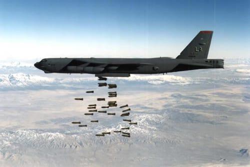 B-52 B-52 Stratofortress Winter Takeoffs at Minot Air Force Base