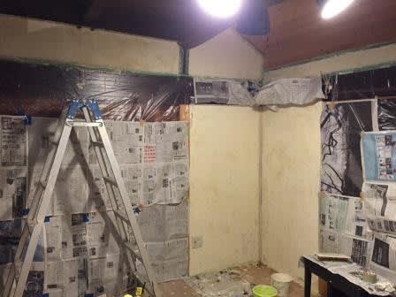子供部屋の壁に珪藻土を塗りました2 はるにわ日記