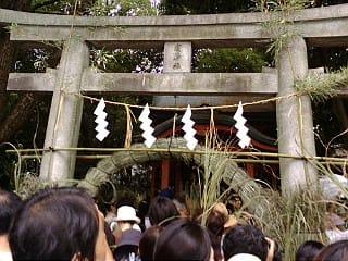 祇園祭の茅の輪くくり