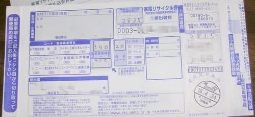 家電 リサイクル 券