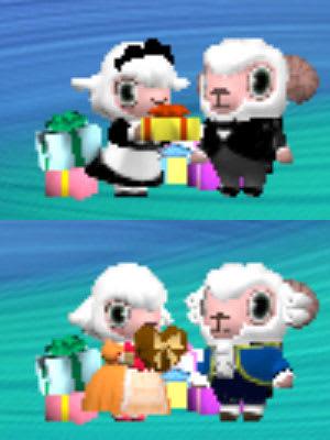手渡すプレゼントはハートのチョコレートに差し替え