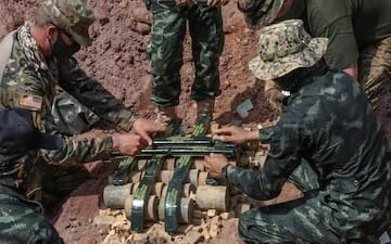 CobraGold2021,合同演習コブラゴールド21,多国籍共同訓練コブラゴールド,タイ軍,アジア,陸自,米陸軍,コブラゴールド,戦闘,