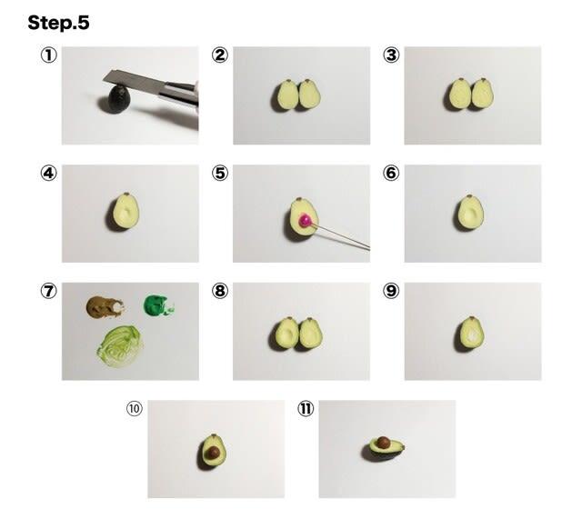 ステップ⑤ アボカドをカットし種を付ける