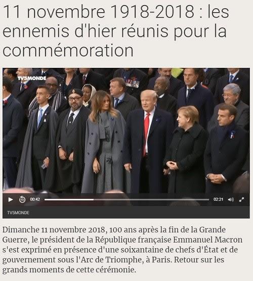 11 novembre 1918-2018 : les ennemis d'hier réunis pour la commémoration