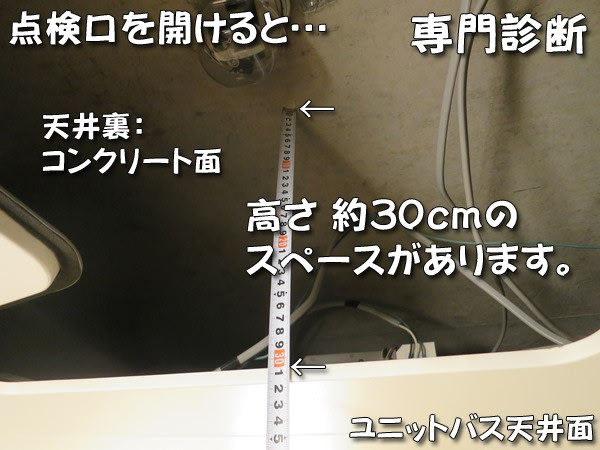 三乾王TYK200天井裏寸法