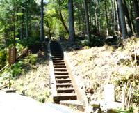林道際の鸚鵡石への登り口