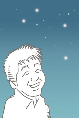 坂本九の似顔絵イラスト画像