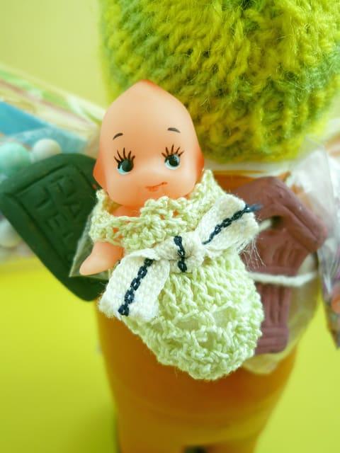 エケコ人形用小物 赤ちゃんが欲しい☆ うぐいす 【小物のみの価格】