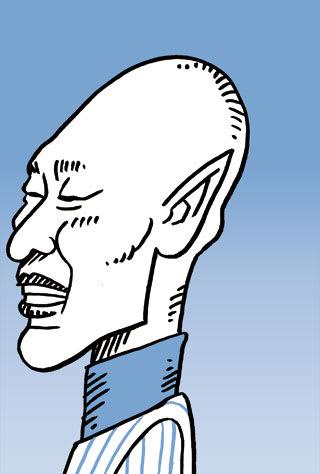 森本稀哲の似顔絵イラスト画像