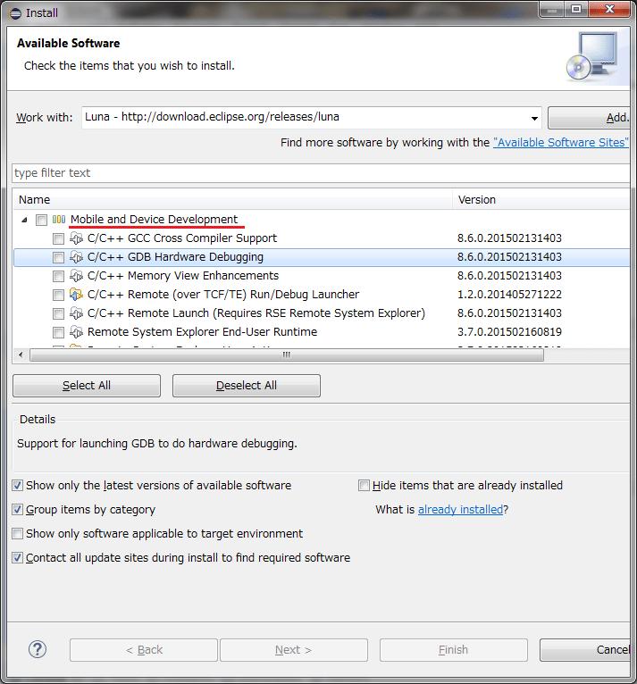 Backfin (0) -- 秋月FT232HLモジュール --> 似非gnICE+、DIY