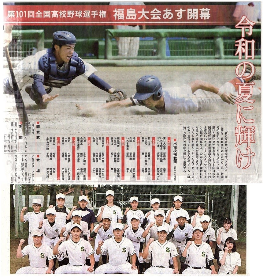 高校 2019 野球 県 福島