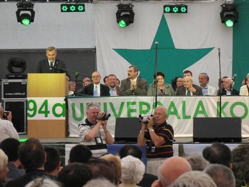 開会式に挨拶するビャウィストク市長