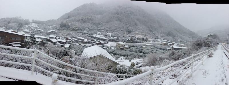 雪中ジョグ
