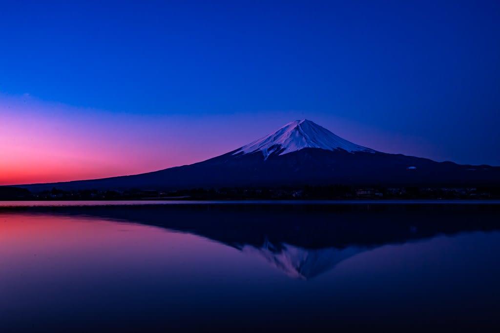 逆さ富士の写真