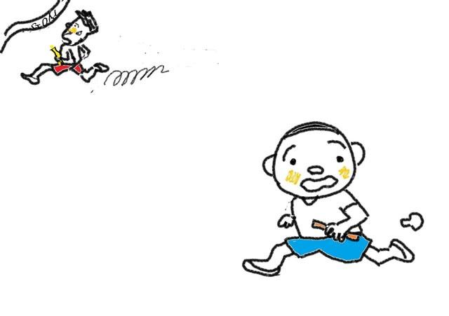 イ形容詞 第12課 速い 遅い スーザンの 日本語教育 手描きイラスト