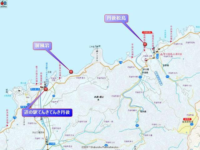 道の駅てんきてんき丹後の地図