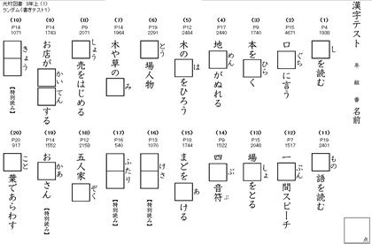 教科書対応の漢字ドリルテスト小学生 時空先生のドリル