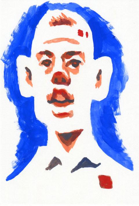 錦織圭選手の似顔絵イラスト画像