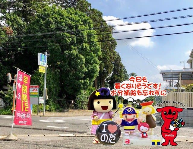 今日も暑くなりそうですの野田市