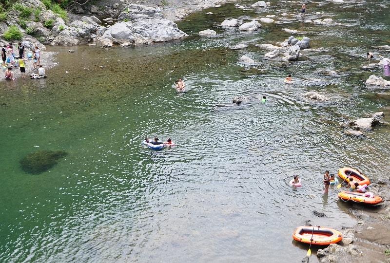 天の川水遊び