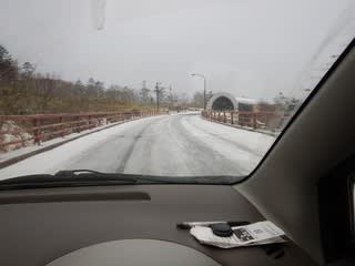 雪道ランチドライブ