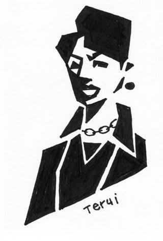 ちょいとクールな加賀まりこさんの似顔絵画像