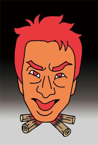 松岡修造の似顔絵